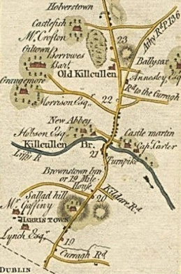 28. Map by Taylor and Skinner. Old Kilcullen Round Tower & Graveyard, Co. Kildare.